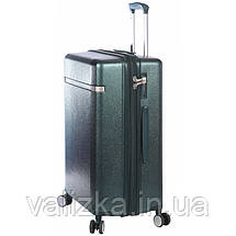Средний пластиковый чемодан из поликарбоната зеленый Snowball 92103 Франция, фото 3