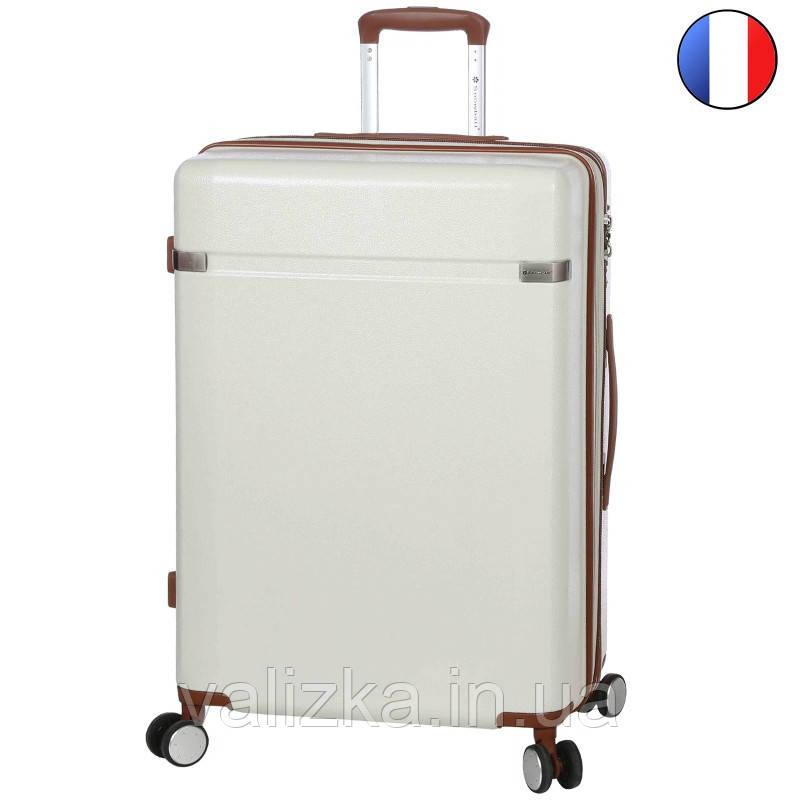 Большой пластиковый чемодан из поликарбоната белый Snowball 92103 Франция