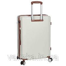 Большой пластиковый чемодан из поликарбоната белый Snowball 92103 Франция, фото 3