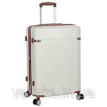 Большой пластиковый чемодан из поликарбоната белый Snowball 92103 Франция, фото 2