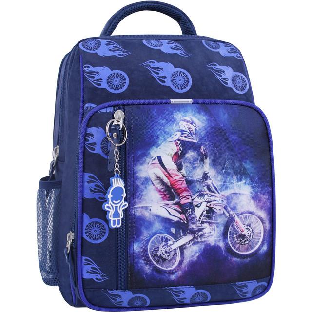 Рюкзак школьный 8 л. синий 507 (0012870)