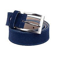 Ремень Woman's heel замшевый синий (Р-46-1)