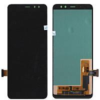 Дисплей + сенсор Samsung A530 (A8 2018) Черный LCD Incell Тоньше на 25% от TFT