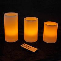 Набор из 3 LED свечей с дистанционным управлением (уценка), фото 1