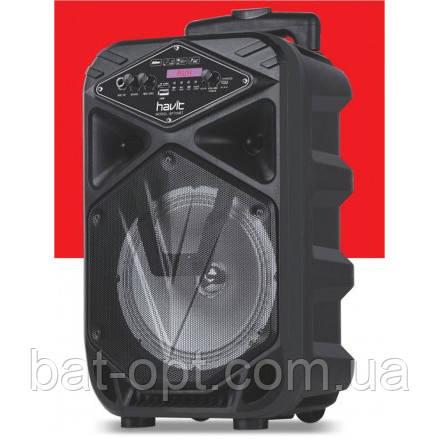 Колонка Bluetooth Havit HV-SF100BT (AUX,USB,FM,BT,LED, TF.MIC IN,1800мАh,12w) 24х20х41см, черная