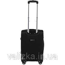 Малый текстильный чемодан на 4-х колесах  черный Wings, фото 3