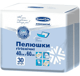 Гигиенические пеленки 40х60 №30 Белоснежка компактні