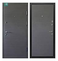 Двери входные металлические ПK-168 Венге серый горизонт 860*2050 правая