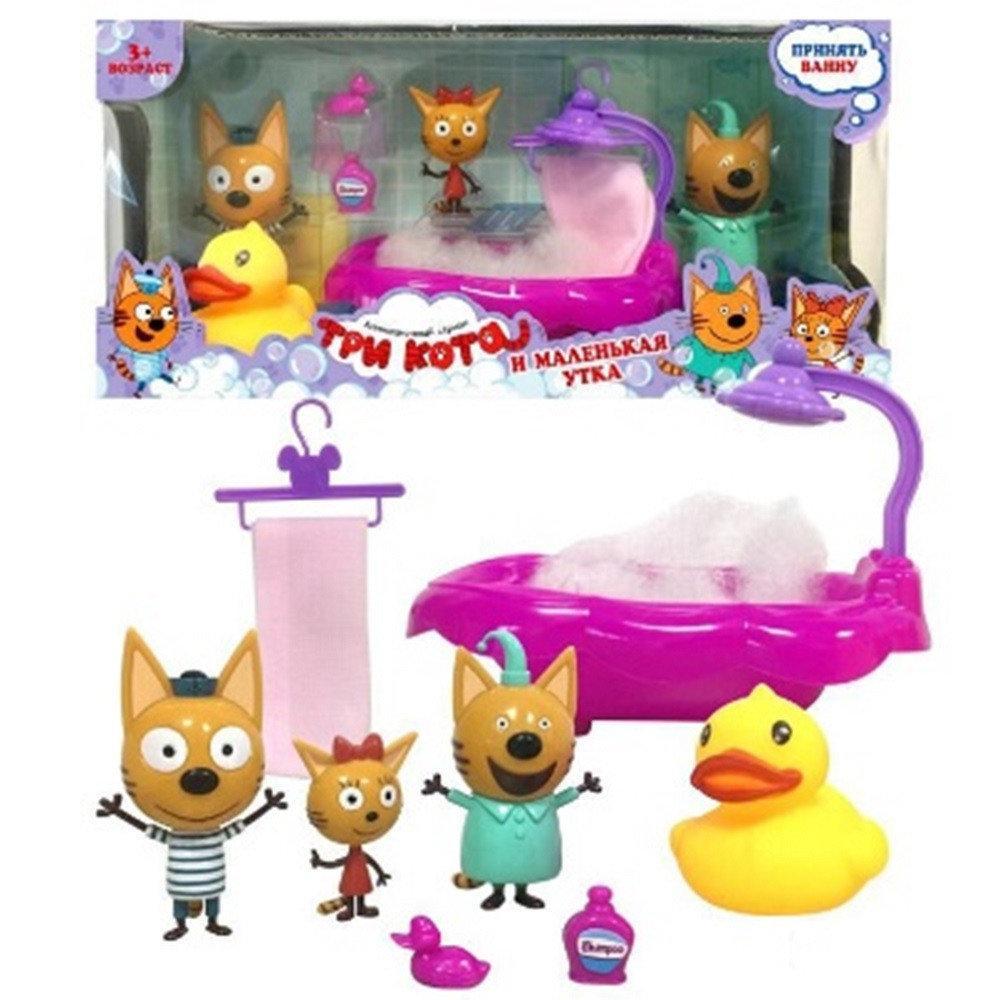 """Ігровий набір """"Три кота"""" ванна з фігурками та аксесуарами"""