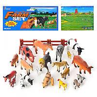 Фигурки домашних животных H 638 21шт с игровым полем и забором