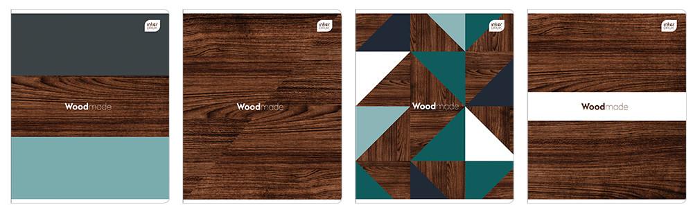 Набор тетрадей ученических Woodmade 4 шт А5+ 80=, Interdruk Premium