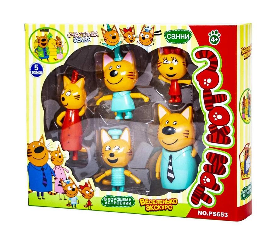 """Игровой набор фигурок """"Три кота"""" PS653"""