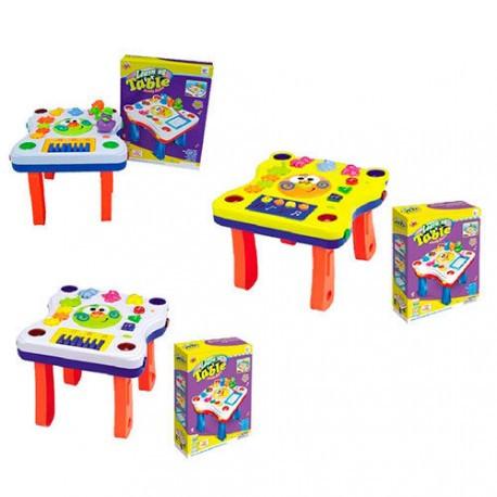 Розвиваюча гра столик 668-61-62-67 для малюків, музика, світло, тріскачка, 3 види, від батарейок