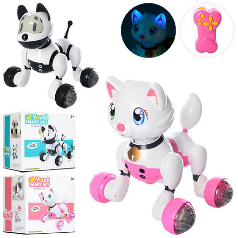 Інтерактивна собака/кішка з пультом MG013 (звук,світло,їздить і танцює)