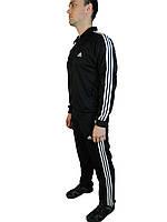 Мужской спортивный костюм адидас,adidas,реплика ,синий,три полосы, ,трикотажный , 46-52 Турция.