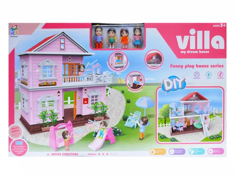Ляльковий будиночок двоповерховий «Villa» з меблями і світлом