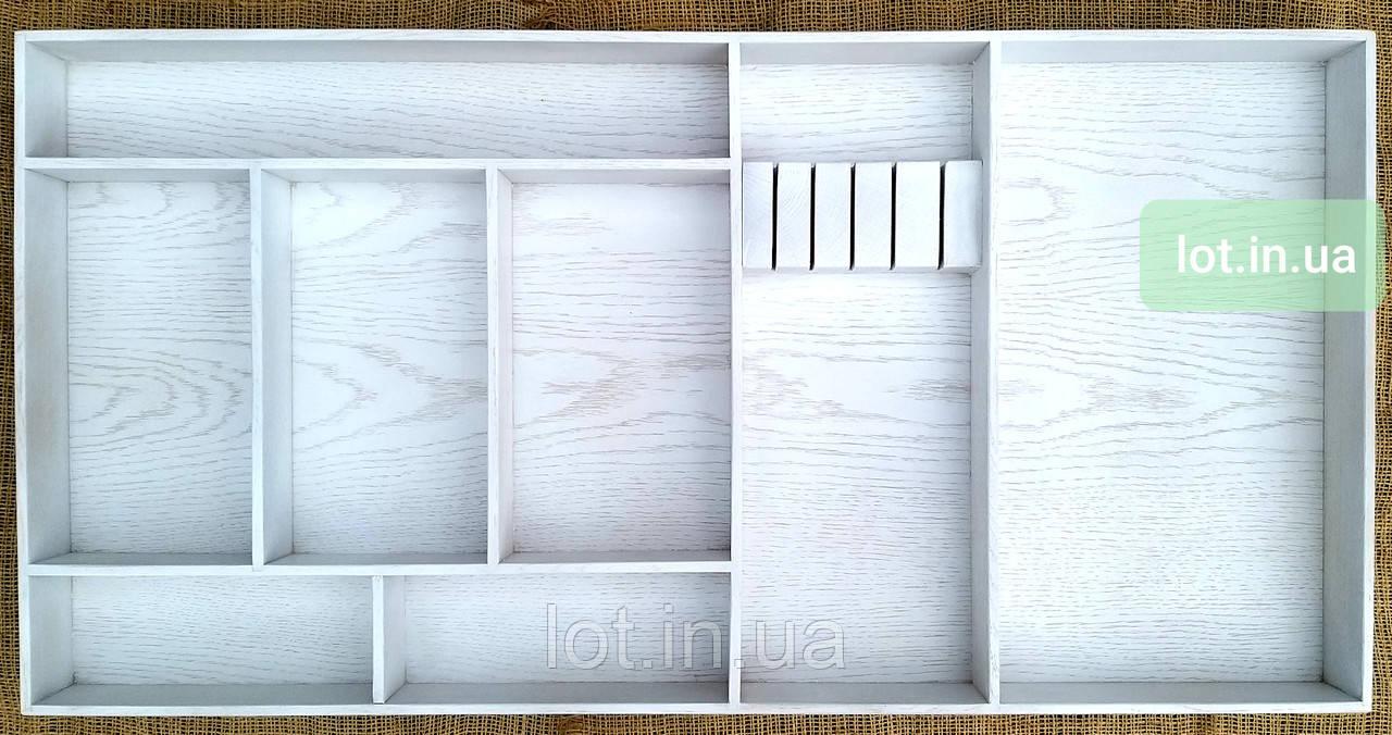 Деревянный лоток для столовых приборов Lot k708 900х400. (индивидуальные размеры)