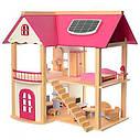 Ляльковий дерев'яний будиночок з меблями, фото 2