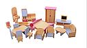 Ляльковий дерев'яний будиночок з меблями, фото 4