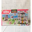 Kукoльный дoмик трехэтажный «Villa» с мебелью и светом, фото 2