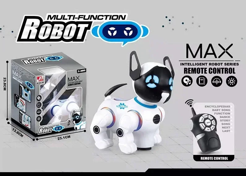 Интерактивная Собака робот на Радиоуправлении 18 см, 2629-T9B , пульт, движение, сенсор