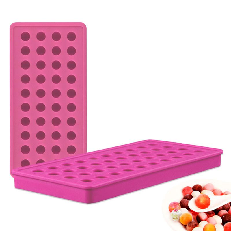 Силиконовая форма для льда CUMENSS B-1012 Pink 40 ячеек охлаждение напитков