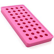 Силиконовая форма для льда CUMENSS B-1012 Pink 40 ячеек охлаждение напитков, фото 2