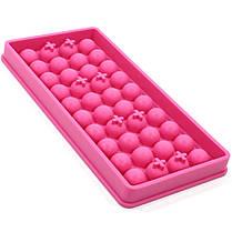 Силиконовая форма для льда CUMENSS B-1012 Pink 40 ячеек охлаждение напитков, фото 3
