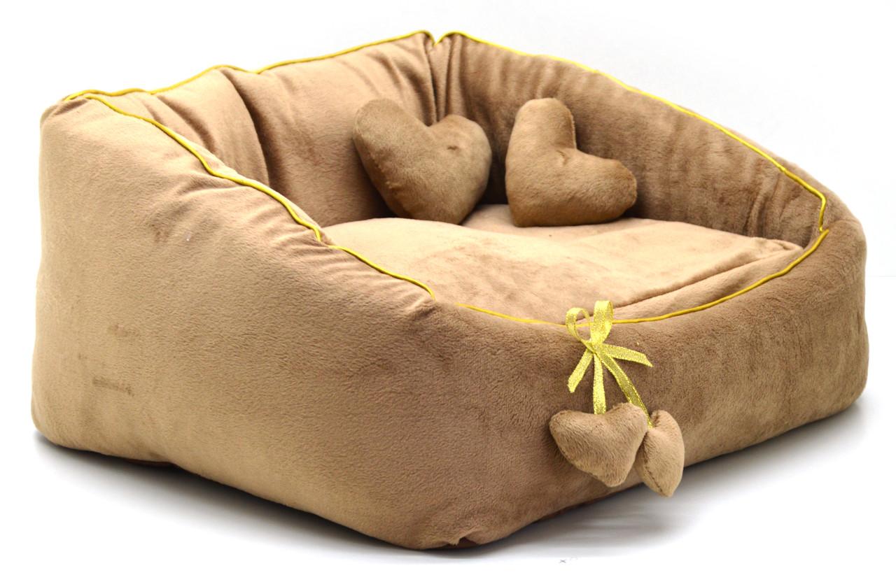 Лежак для котов и собак Нежность коричневый №1 300х370х220