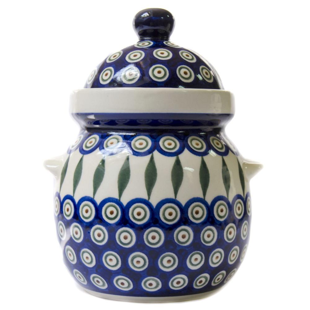 Горшок керамический Бочонок 1,5L с ушкамиПеро Павлина