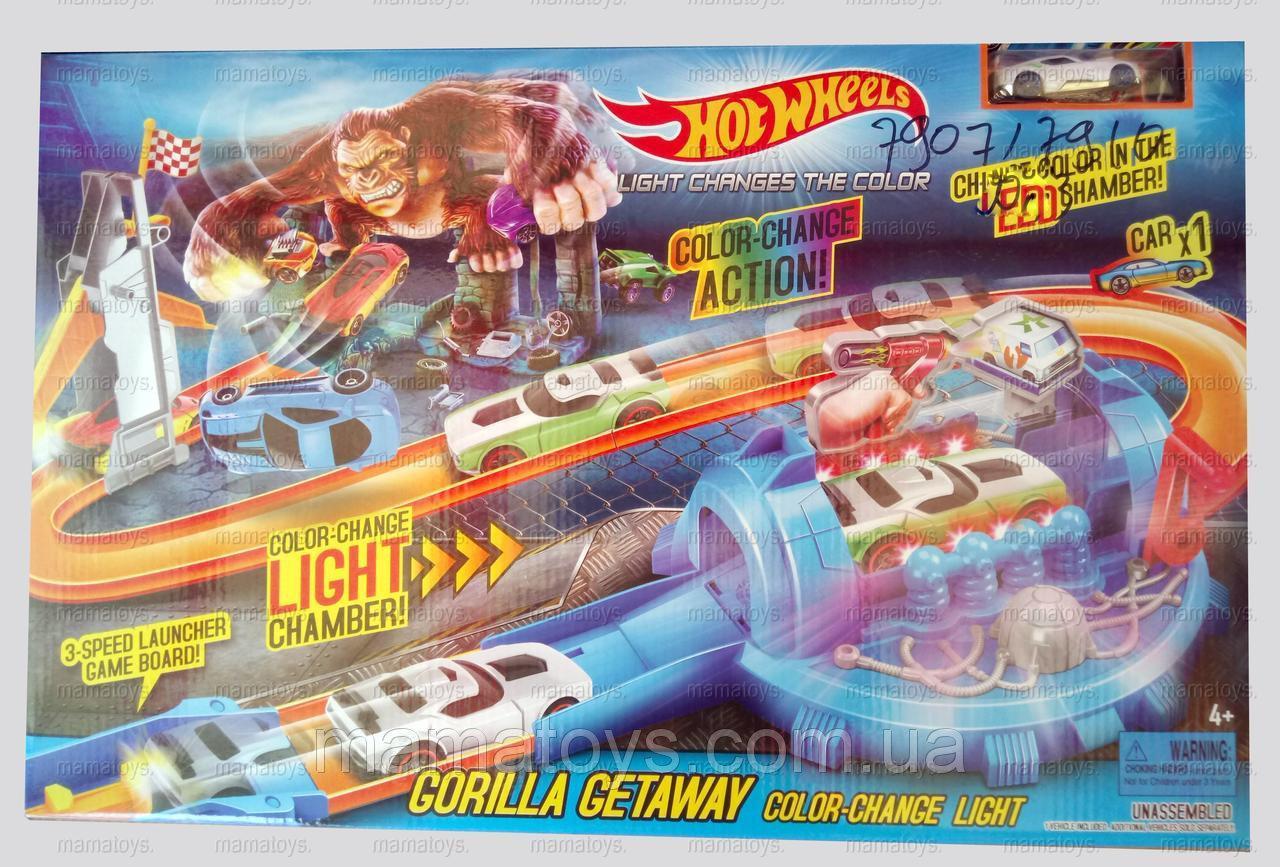 Дитячий трек запуск Hot Wheels машинка змінює колір 7907 - 7910 2 види
