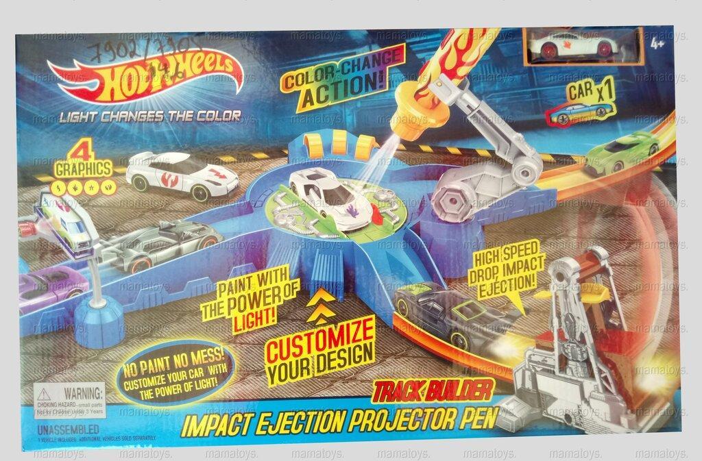 Детский трек запуск Hot Wheels 7902 - 7905 машинка меняет цвет