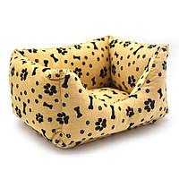 Лежак для собак и котов Лапки №2 400х500х220 двусторонний