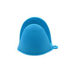 Прихватка силиконовая Cumenss AI-K001 Blue перчатка-рукавица для горячего кухонная