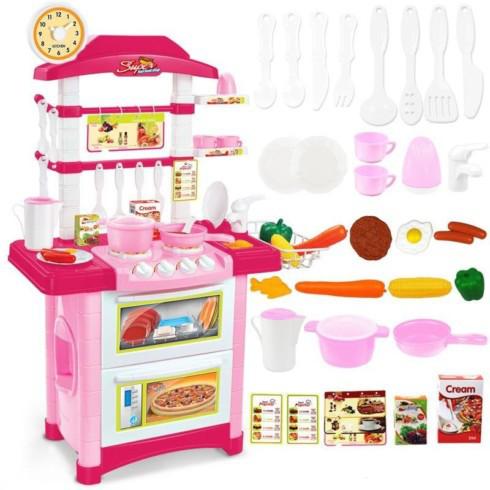 Дитяча кухня рожева зі звуком і світлом, вис. 87 див.