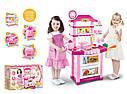 Детская кухня розовая со звуком и светом, выс. 87 см., фото 2