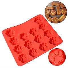 Силиконовая форма для выпечки Cumenss Red Лапки термоустойчивая выпекание десертов детям