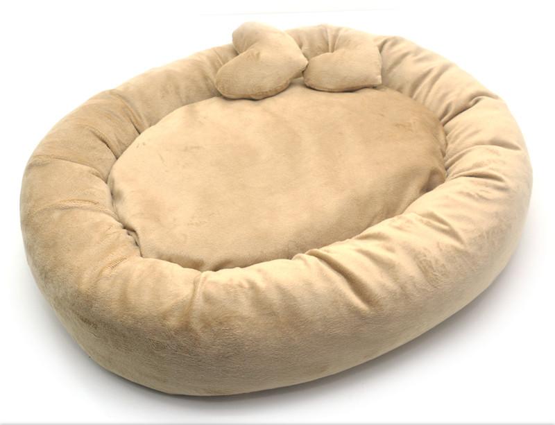 Лежак для собак и котов Плюш бежевый №1 42х52х10