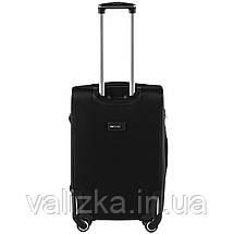 Средний текстильный чемодан на 4-х колесах  черный Wings, фото 3