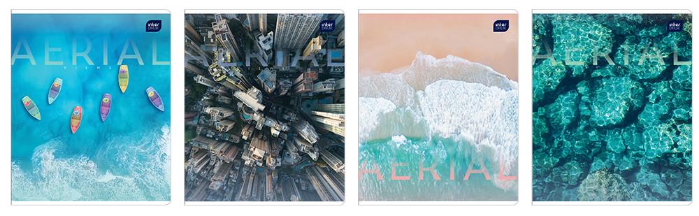 Набор тетрадей ученических Aerial View 4 шт А5+ 48=, Interdruk Premium