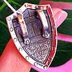 Крупный мужской серебряный кулон Георгий Победоносец на щите, фото 2