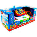 Дитячий касовий апарат 7019 з калькулятором, сканером, фото 2