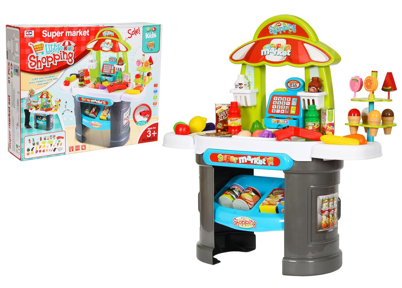 Детский набор супермаркет-магазин 008-911 с прилавком, кассой, сканером