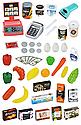 Детский супермаркет 668-77 с кассой, тележкой со звуком, фото 2