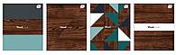 Набор тетрадей ученических Woodmade 4 шт А5+ 48=, Interdruk Premium