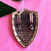 Крупный мужской серебряный кулон Георгий Победоносец на щите, фото 5