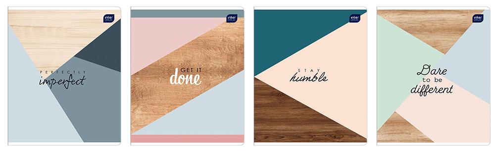 Набор тетрадей ученических Soft Pastel 4 шт А5+ 48=, Interdruk Premium