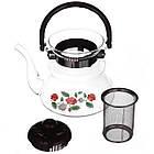 Чайник заварочный стеклянный A-PLUS 1.0 л для заварки чая, фото 3