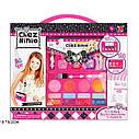 Набор детской косметики в сумочке 77016: лаки для ногтей, помады, тени, румяна, блестки, фото 2