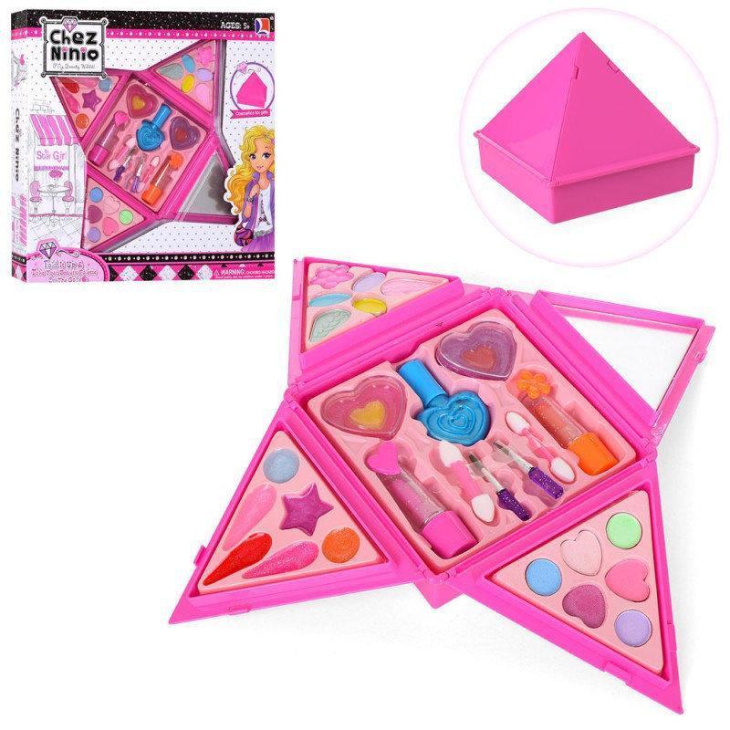 Набір дитячої косметики в сумочці 77003: лак для нігтів, помади, тіні, рум'яна, блиск
